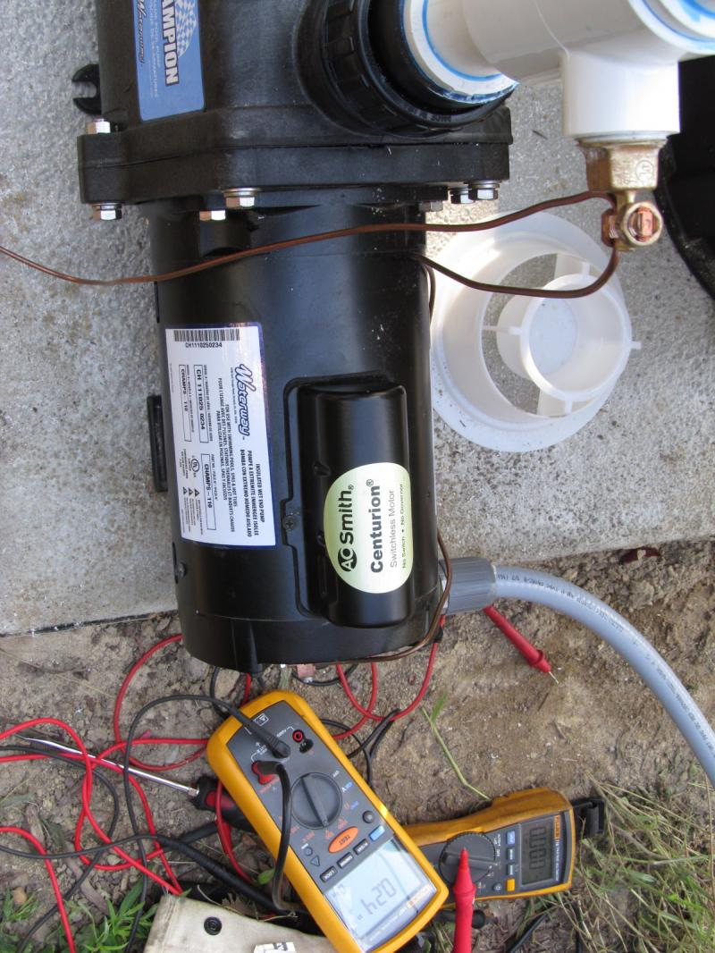 Troubleshooting pool pump motor